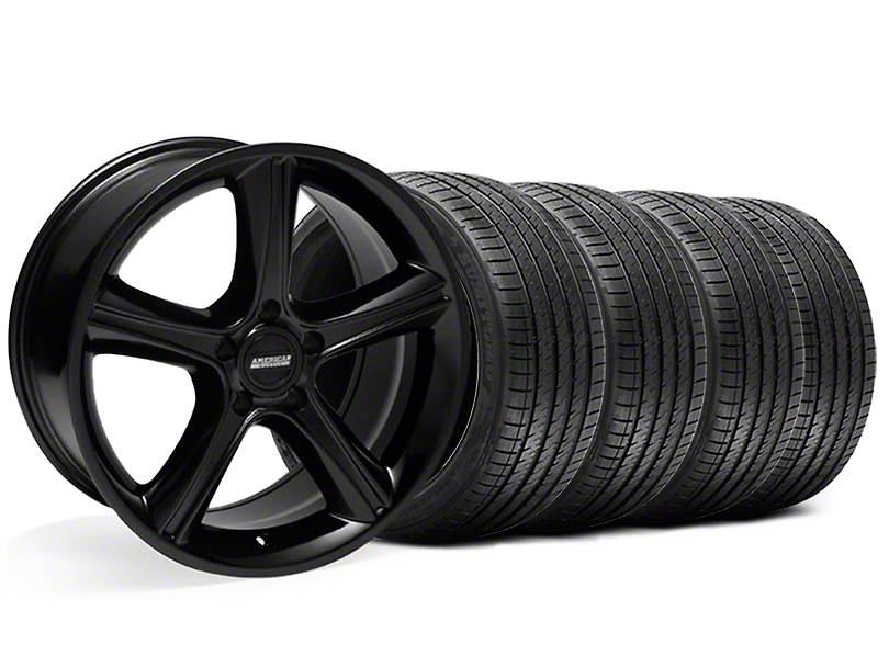 GT Premium Style Black Wheel & Sumitomo Tire Kit - 18x9 (05-14)