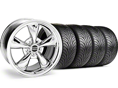 Chrome Bullitt Wheel & Sumitomo Tire Kit - 18x9 (99-04)