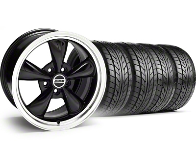 Bullitt Black Wheel & NITTO Tire Kit - 17x8 (99-04)