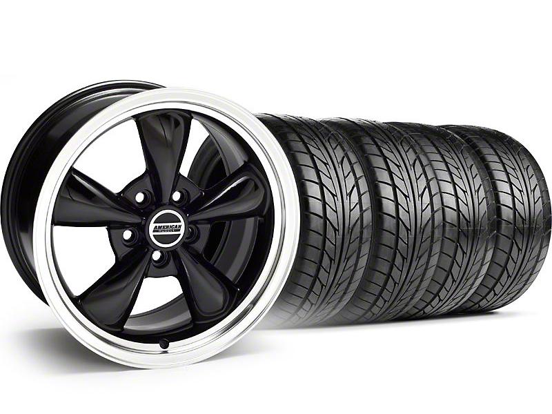 Bullitt Black Wheel & NITTO Tire Kit - 17x8 (99-04)