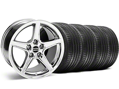 Saleen Style Chrome Wheel & Sumitomo Tire Kit - 18x9 (99-04)