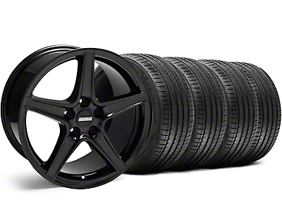 Black Saleen Style Wheel & Sumitomo Tire Kit - 18x9 (99-04)