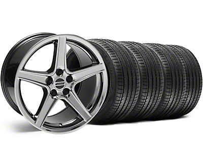 Black Chrome Saleen Style Wheel & Sumitomo Tire Kit - 18x9 (99-04)
