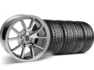 FR500 Style Chrome Wheel & NITTO Tire Kit - 17x9 (99-04)