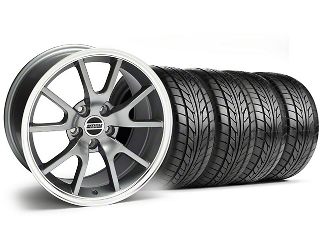 FR500 Style Anthracite Wheel & NITTO Tire Kit - 17x9 (99-04)