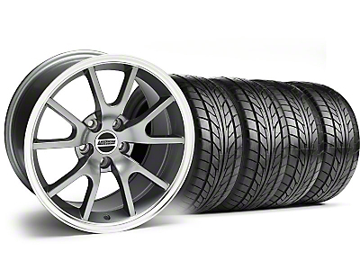 FR500 Style Anthracite Wheel & NITTO Tire Kit - 17x9 (99-04)