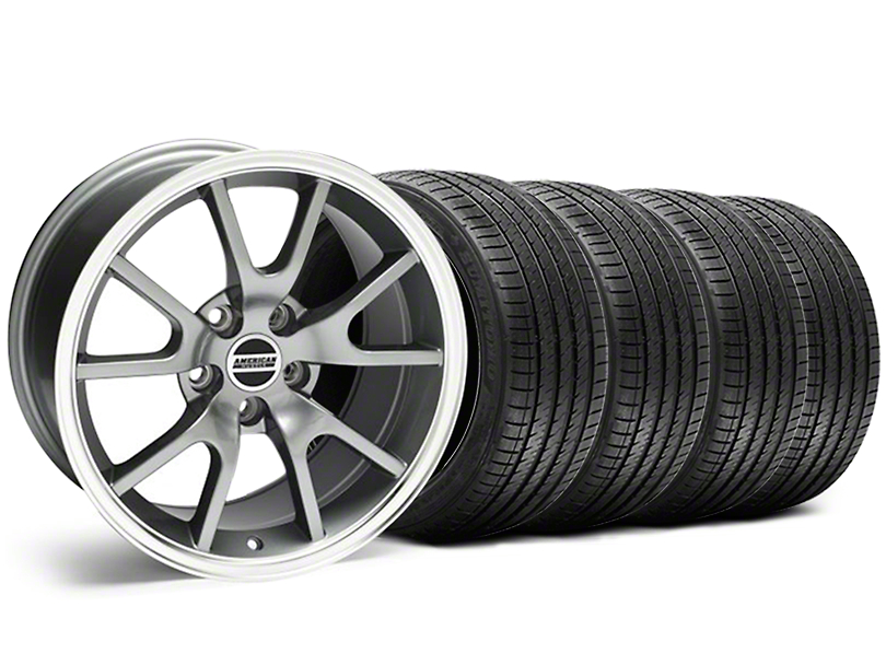 FR500 Style Anthracite Wheel & Sumitomo Tire Kit - 18x9 (99-04)