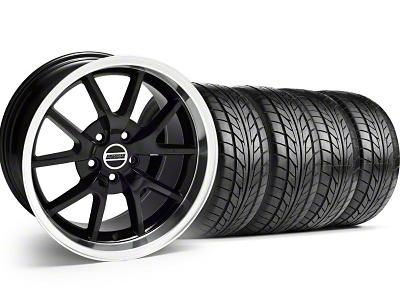 FR500 Style Black Wheel & NITTO Tire Kit - 17x9 (99-04)