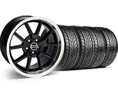 Black FR500 Wheel & NITTO Tire Kit - 17x9 (99-04)