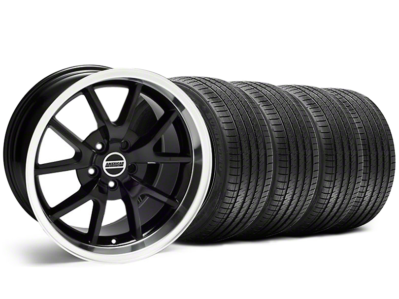 FR500 Style Black Wheel & Sumitomo Tire Kit - 18x9 (99-04)