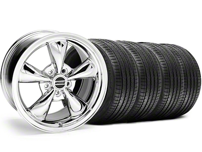 Staggered Bullitt Chrome Wheel & Sumitomo Tire Kit - 18x9/10 (05-14 GT, V6)