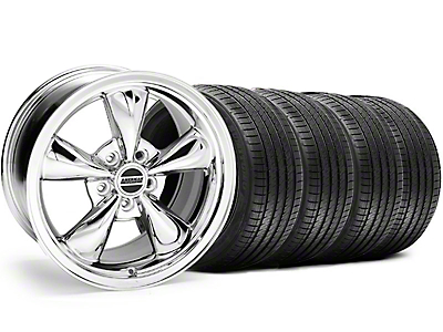 Staggered Bullitt Chrome Wheel & Sumitomo Tire Kit - 18x9/10 (05-14)