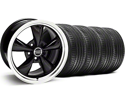 Staggered Black Bullitt Wheel & Sumitomo Tire Kit - 18x9/10 (05-14)