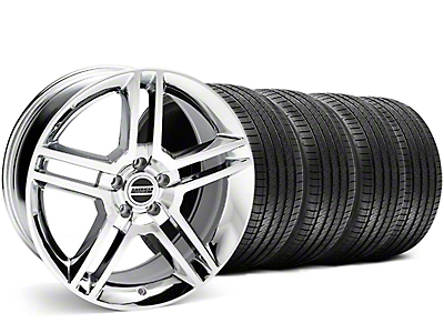 Staggered 2010 GT500 Chrome Wheel & Sumitomo Tire Kit - 18x9/10 (05-14)