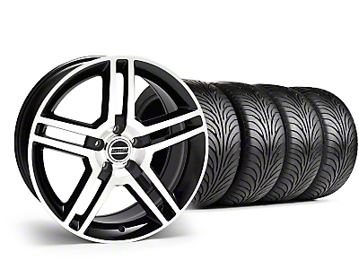 Staggered 2010 GT500 Style Black Machined Wheel & Sumitomo Tire Kit - 18x9/10 (05-14)