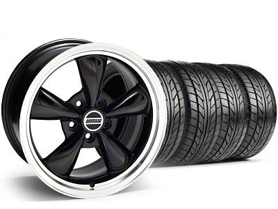 Staggered Bullitt Black Wheel & NITTO Tire Kit - 17x9/10.5 (99-04)