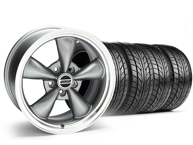 Staggered Bullitt Anthracite Wheel & NITTO Tire Kit - 17x9/10.5 (99-04)
