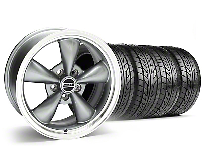 Staggered Anthracite Bullitt Wheel & NITTO Tire Kit - 17x9/10.5 (99-04)