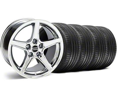Staggered Saleen Style Chrome Wheel & Sumitomo Tire Kit - 18x9/10 (99-04)