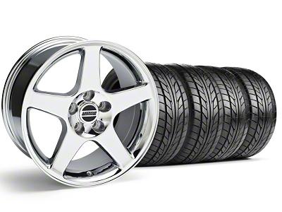 Staggered 2003 Cobra Style Chrome Wheel & NITTO Tire Kit - 17x9/10.5 (99-04)
