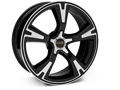 Foose Black Machined RS Wheel - 20x8.5 (05-13 All)