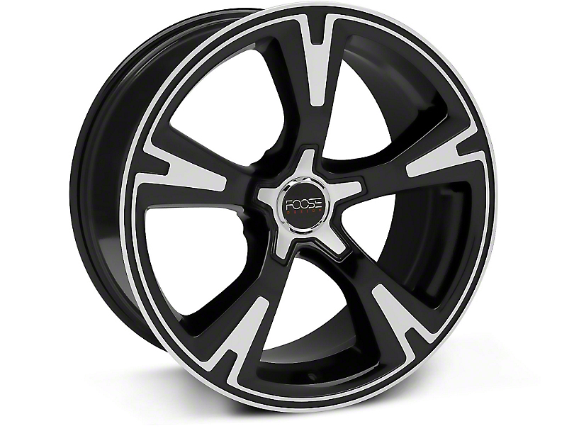 Foose RS Black Machined Wheel - 20x10 (05-14 All)
