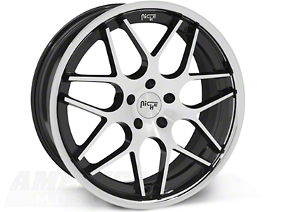 Niche Mugello Black Machined Wheel - 20x8.5 (05-14 All)