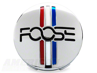 Foose Tri-bar Style Center Cap - Chrome
