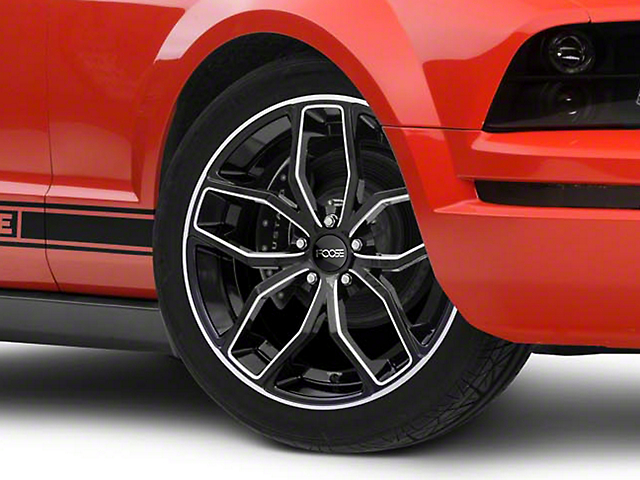 Foose Outcast Black Machined Wheel - 20x8.5 (05-14 All)