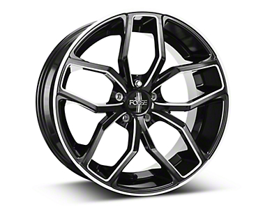 Black Machined Foose Outcast Wheel - 20x10 (05-14 All)
