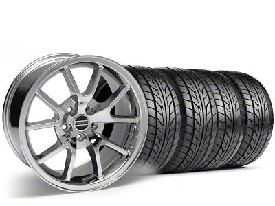 Staggered FR500 Style Chrome Wheel & NITTO Tire Kit - 17x9/10.5 (99-04)