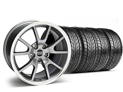 Staggered FR500 Style Anthracite Wheel & NITTO Tire Kit - 17x9/10.5 (99-04)