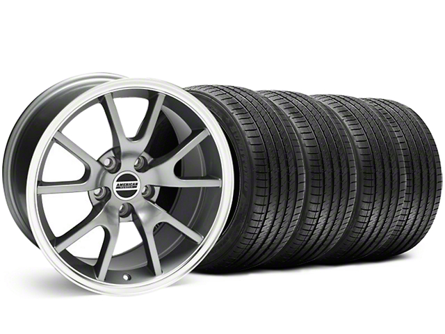 Staggered FR500 Style Anthracite Wheel & Sumitomo Tire Kit - 18x9/10 (99-04)