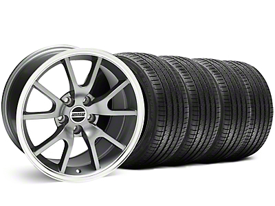 Staggered Anthracite FR500 Wheel & Sumitomo Tire Kit - 18x9/10 (99-04)