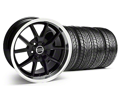 Staggered Black FR500 Wheel & NITTO Tire Kit - 17x9/10.5 (99-04)