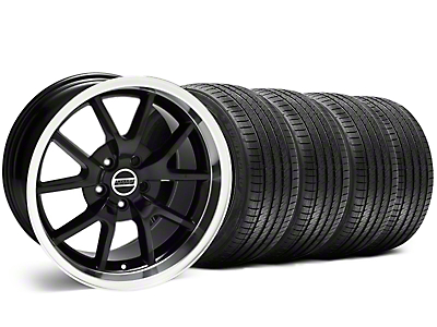 Staggered FR500 Style Black Wheel & Sumitomo Tire Kit - 18x9/10 (99-04)