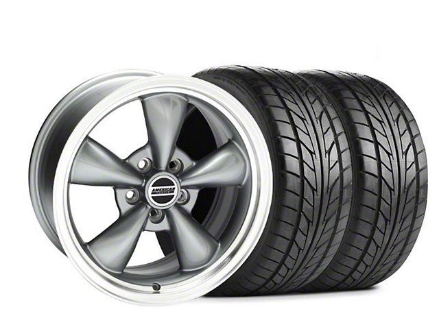 Bullitt Wide Rear Anthracite Wheel & NITTO Rear Only Tire Kit - 17x10.5 (99-04)