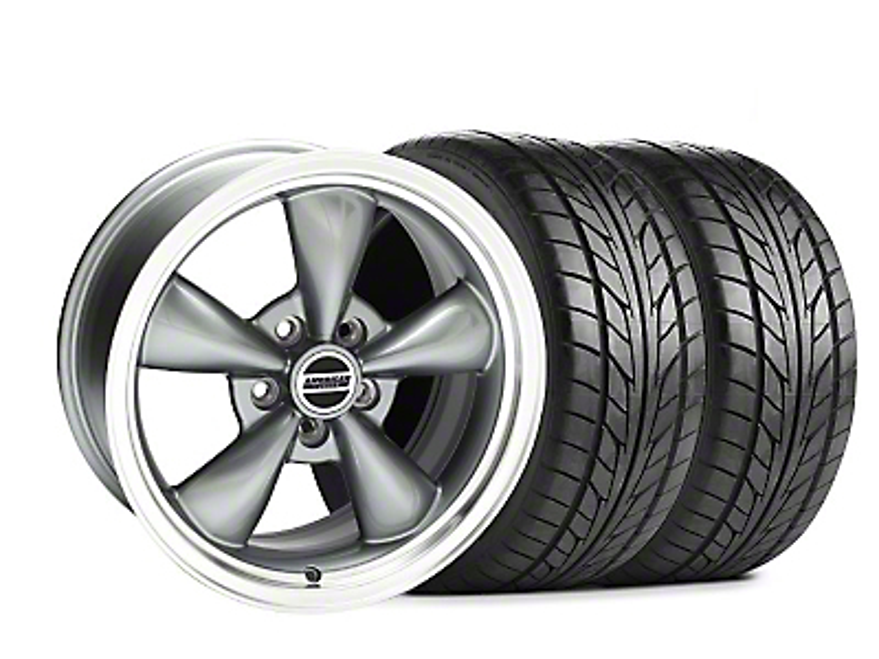 Bullitt Wide Rear Anthracite Wheel & NITTO Tire Kit - 17x10.5 - Rear Only (99-04)