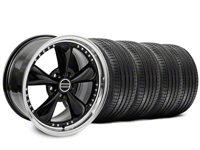 Staggered Bullitt Motorsport Black Wheel & Sumitomo Tire Kit - 18x9/10 (99-04)