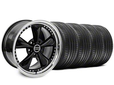 Staggered Bullitt Motorsport Black Wheel & Sumitomo Tire Kit - 18x9/10 (99-04)