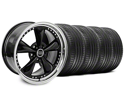 Staggered Black Bullitt Motorsport Wheel & Sumitomo Tire Kit - 18x9/10 (99-04)