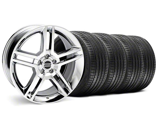 2010 GT500 Style Chrome Wheel & Sumitomo Tire Kit - 18x9 (99-04)
