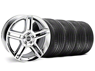 2010 GT500 Style Chrome Wheel & Sumitomo Tire Kit - 18x9 (99-04)