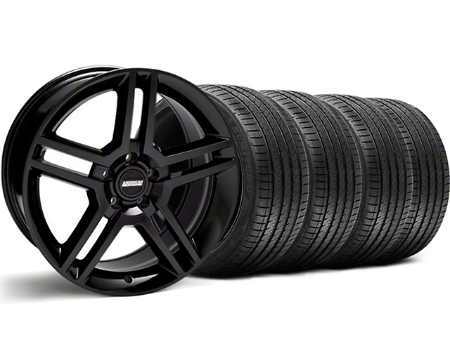 2010 GT500 Style Black Wheel & Sumitomo Tire Kit - 18x9 (99-04)