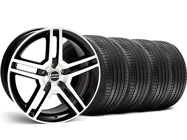 2010 GT500 Style Black Machined Wheel & Sumitomo Tire Kit - 18x9 (99-04)