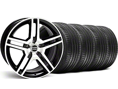 Black Machined 2010 GT500 Wheel & Sumitomo Tire Kit - 18x9 (99-04)