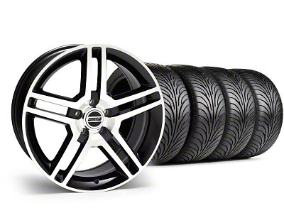 Staggered 2010 GT500 Style Black Machined Wheel & Sumitomo Tire Kit - 18x9/10 (99-04)