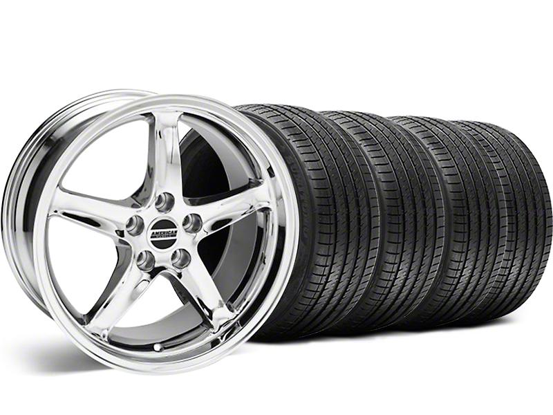 1995 Cobra R Style Chrome Wheel & Sumitomo Tire Kit - 18x9 (99-04)