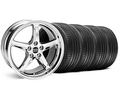 Staggered 1995 Cobra R Chrome Wheel & Sumitomo Tire Kit - 18x9/10 (99-04)