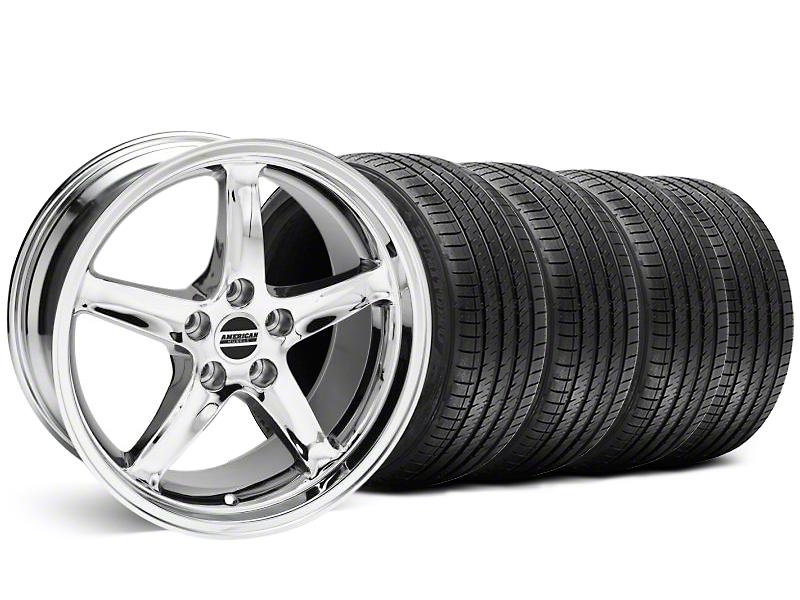 Staggered 1995 Cobra R Style Chrome Wheel & Sumitomo Tire Kit - 18x9/10 (99-04)